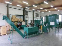Plant biomass pelleting lines